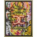 絵画 ブランド キャンバスアート「グラフィティ パフューム1(Mサイズ)」/おしゃれ シャネル インテリア