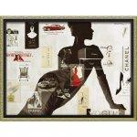 絵画 ブランド キャンバスアート「ハイファッション1(Mサイズ)」/インテリア 壁掛け 額入り ポスター