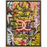 絵画 ブランド キャンバスアート「グラフィティ パフューム1(Lサイズ)」/スタイリッシュ インテリア