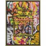 絵画 ブランド キャンバスアート「グラフィティ パフューム2(Lサイズ)」/壁掛け 額入り モダン メルヘン