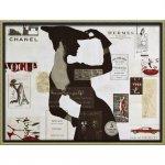 絵画 ブランド キャンバスアート「ハイファッション2(Lサイズ)」/スタイリッシュ メルヘン ティファニー