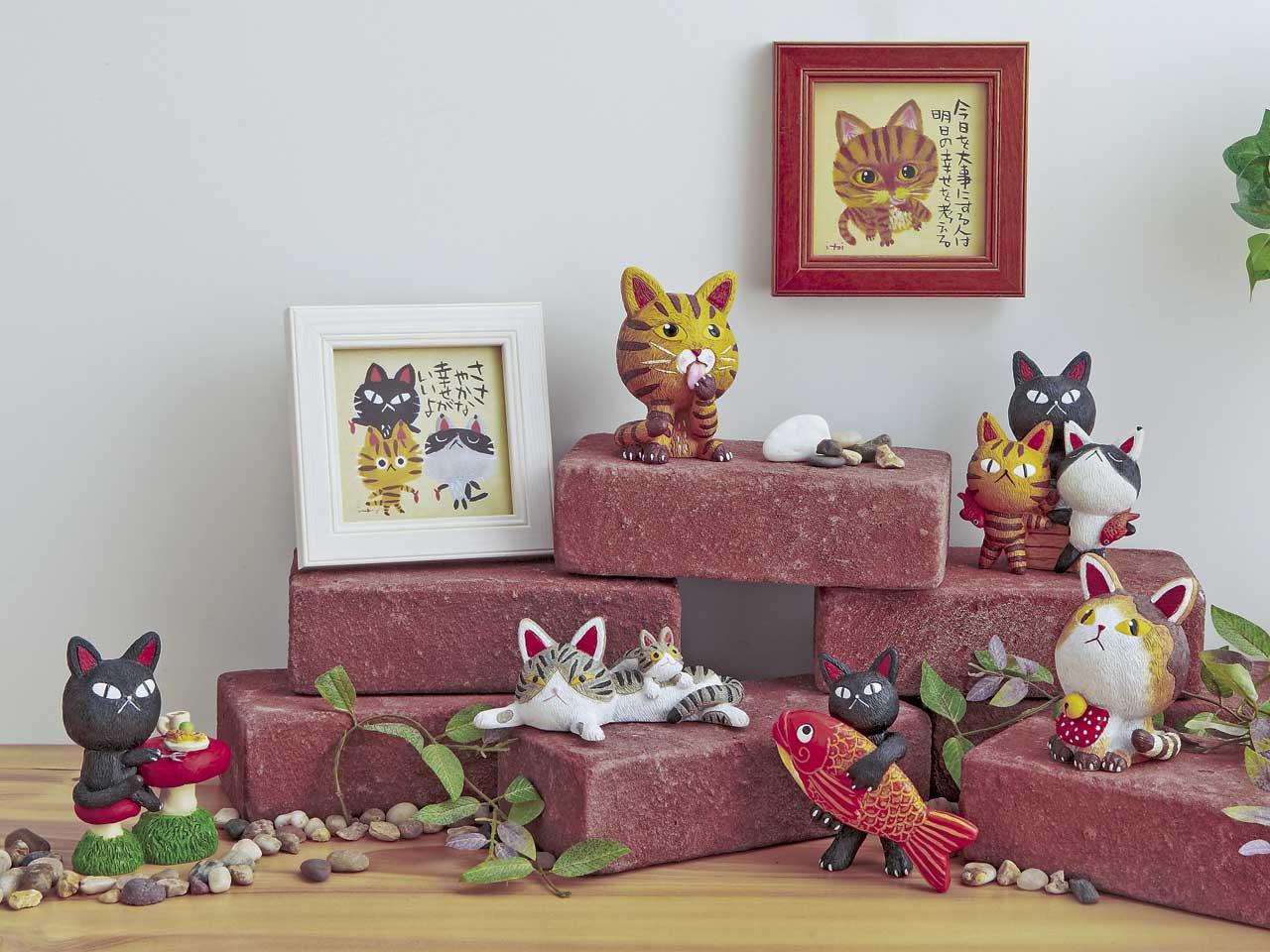 メッセージアート ゆうパケット 糸井忠晴 ミニ アート フレーム「朝の洗礼」/猫 おしゃれ 飾る かわいい
