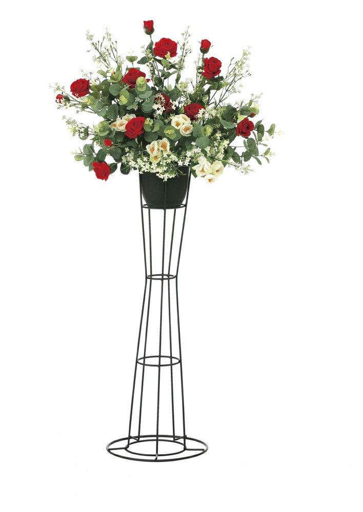 【アートフラワー 造花】スカーレットローズスタンドM〔フロアタイプ〕/光触媒 観葉植物 ウンベラータ フェイクグリーン 花 胡蝶蘭 開店祝い 開業祝い 誕生祝い 造花 アートフレーム おしゃれ