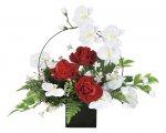 アートフラワー ホワイトモダン 〔テーブルタイプ〕 インテリア 部屋に飾る 花 おしゃれ 御祝 華やか ギフト プレゼント リビング 玄関 キッチン 造花 枯れない 贈答 展示場