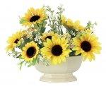アートフラワー エミリーサンフラワー 〔テーブルタイプ〕 インテリア 花 おしゃれ ギフト ひまわり 部屋に飾る プレゼント リビング 玄関 キッチン 造花 枯れない 向日葵