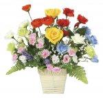 アートフラワー 開運8色フラワーS 〔ミニタイプ〕 インテリア おしゃれ 花 華やか ギフト 御祝 部屋に飾る 造花 カラフル プレゼント リビング 玄関 キッチン 枯れない