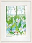 《絵画》昆虫物語みなしごハッチ 水芭蕉、雪解に咲く白い妖精(大全紙) はりたつお