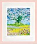 《絵画》昆虫物語みなしごハッチ 大桜を囲む紫花菜(四ツ) はりたつお
