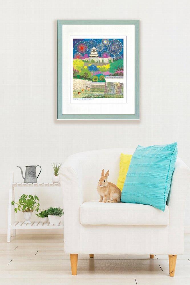 《絵画》昆虫物語みなしごハッチ 花の丸亀城(四ツ) はりたつお