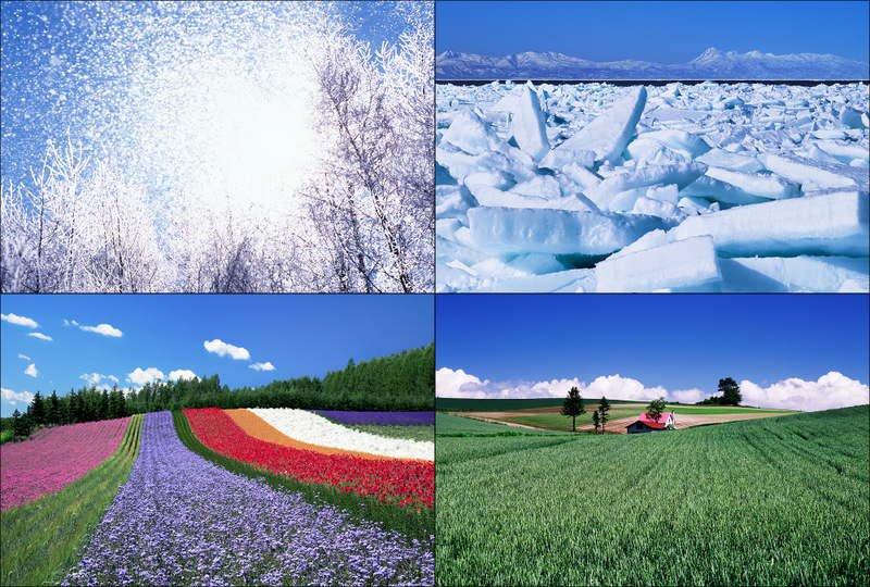 《絵はがき》「北の大地へ/美しき北海道」グリーティング・ポストカード (Stationery)