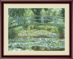 名画 油絵 睡蓮の池と日本の橋 クロード モネ 手彩仕上 高精細巧芸画 ゆうパケット Sサイズ
