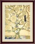 名画 油絵 生命の樹 グスタフ クリムト 手彩仕上 高精細巧芸画 ゆうパケット Sサイズ