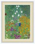 名画 油絵 農家の庭 グスタフ クリムト 手彩仕上 高精細巧芸画 ゆうパケット Sサイズ