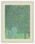 名画 油絵 木々の下の薔薇 グスタフ クリムト 手彩仕上 高精細巧芸画 ゆうパケット Sサイズ