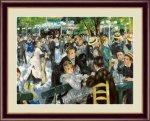 名画 油絵 ムーラン・ド・ラ・ギャレット ルノワール 手彩仕上 高精細巧芸画 Mサイズ