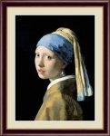 名画 油絵 真珠の耳飾りの少女 ヨハネス フェルメール 手彩仕上 高精細巧芸画 Lサイズ