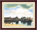 名画 油絵 デルフトの眺望 ヨハネス フェルメール 手彩仕上 高精細巧芸画 Lサイズ