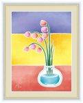 絵画 ちょっと気になる植物たち 鈴蘭の一輪挿し 春田 あかり 手彩仕上 高精細巧芸画 Mサイズ