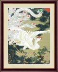 日本の名画 日本画 老松白鳳図(ろうしょうはくほうず) 伊藤 若冲 手彩仕上 高精細巧芸画 Lサイズ