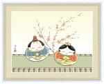 日本画 桃の節句画 だるま雛004 井川 洋光 手彩仕上 高精細巧芸画 Mサイズ