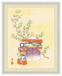 日本画 桃の節句画 立雛 香山 緑翠 手彩仕上 高精細巧芸画 Lサイズ