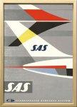 絵画 スカンジナビアンアート SAS 1960年ごろ 額入り アートフレーム 壁掛け 飾る リビング インテリア 北欧 プレゼント ギフト ポスター 3Lサイズ