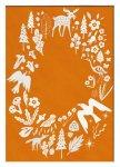 絵画 スカンジナビアンアート フィンランドの森/オレンジ 額入り アートフレーム 壁掛け 飾る リビング インテリア 北欧 シンプル かわいい プレゼント ギフト ポスター LLサイズ