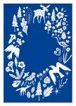 絵画 スカンジナビアンアート フィンランドの森/ブルー 額入り アートフレーム 壁掛け 飾る リビング インテリア 北欧 シンプル かわいい プレゼント ギフト ポスター LLサイズ