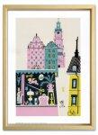 絵画 ゆうパケット オーレ エクセル Gamla Stan,1939 額入り アートフレーム 壁掛け 飾る リビング 玄関 トイレ インテリア 北欧 かわいい プレゼント ギフト ポスター Sサイズ