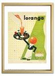 絵画 ゆうパケット オーレ エクセル Ioranga,1947 額入り アートフレーム 壁掛け 飾る リビング 玄関 トイレ インテリア 北欧 かわいい プレゼント ギフト ポスター Sサイズ
