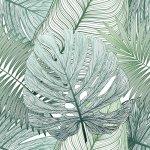 絵画 アートパネル シームレスパターントロピカルリーフパーム 壁掛け 飾る キャンバス リビング 玄関 インテリア プレゼント ギフト 植物 葉 南国 おしゃれ 5Lサイズ