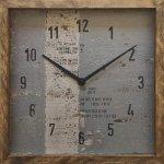 時計 サーフ クロック スクエア 4 インテリア リビング 玄関 トイレ 部屋 プレゼント モダン おしゃれ 壁掛け 時計 飾る Mサイズ