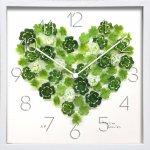 時計 アトリエ シャルル クロック クローバー ハート 掛け時計 ウォールクロック インテリア 壁掛け ギフト プレゼント 新築祝い おしゃれ 飾る かわいい アート クローバー 造花 Sサイズ