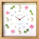 時計 ディスプレイ クロック アルパカ 3 掛け時計 ウォールクロック インテリア 壁掛け ギフト プレゼント 新築祝い おしゃれ 飾る かわいい 動物 Mサイズ