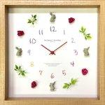 時計 ディスプレイ クロック うさぎ 3 掛け時計 ウォールクロック インテリア 壁掛け ギフト プレゼント 新築祝い おしゃれ 飾る かわいい カラフル Mサイズ