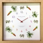 時計 ディスプレイ クロック ロバ 2 掛け時計 ウォールクロック インテリア 壁掛け ギフト プレゼント 新築祝い おしゃれ 飾る かわいい 動物 カラフル Mサイズ