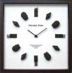 時計 ディスプレイ クロック チョコレート スタイル 2 掛け時計 ウォールクロック インテリア 壁掛け ギフト プレゼント 新築祝い おしゃれ 飾る かわいい チョコ Mサイズ
