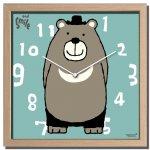時計 アーティスト クロック 武内 祐人 クマ 掛け時計 ウォールクロック インテリア 壁掛け ギフト プレゼント 新築祝い おしゃれ 飾る かわいい 熊 ベア Mサイズ