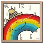 時計 アーティスト クロック 武内 祐人 虹 掛け時計 ウォールクロック インテリア 壁掛け ギフト プレゼント 新築祝い おしゃれ 飾る かわいい カラフル Mサイズ