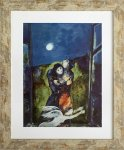 《名画アートフレーム》月明かりの恋人たち マルク・シャガール(Marc Chagall)