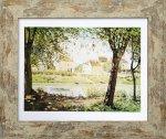 《名画アートフレーム》セーヌ川畔の村 アルフレッド・シスレー(Alfred Sisley)