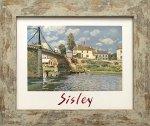 《名画アートフレーム》ヴィルヌーヴ・ラ・ガランヌの橋 アルフレッド・シスレー(Alfred Sisley)