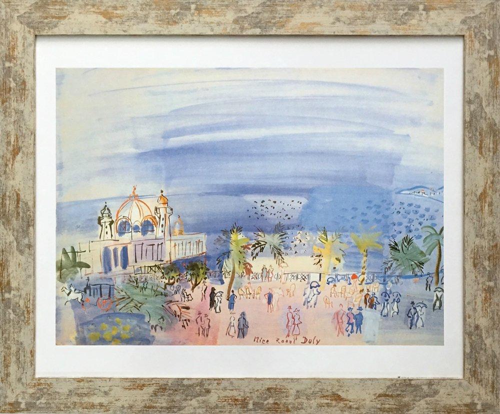 《名画アートフレーム》ニースのカジノ クロード・モネ(Claude Monet)