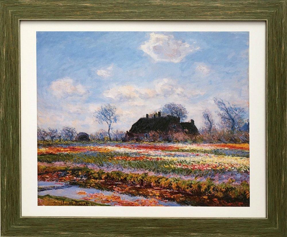 《名画アートフレーム》サッセンハイムのチューリップ畑 クロード・モネ(Claude Monet)