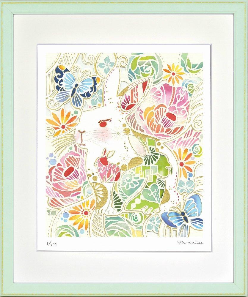 絵画》うさぎ模様 平石智美 - 絵画や壁掛け販売 日本唯一の風景専門店(R)あゆわら