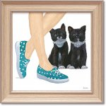 絵画 エミリー アダムス「キューティー キティ3」 インテリア 額入り 絵 壁掛け 飾る 猫 子猫 風景画 かわいい 動物 壁飾り 額装込 癒やし プレゼント ギフト  アート フレーム ポスター