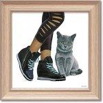 絵画 エミリー アダムス「キューティー キティ5」 インテリア 額入り 絵 壁掛け 飾る 猫 子猫 風景画 かわいい 動物 壁飾り 額装込 癒やし プレゼント ギフト  アート フレーム ポスター