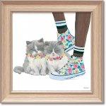 絵画 エミリー アダムス「キューティー キティ7」 インテリア 額入り 絵 壁掛け 飾る 猫 子猫 風景画 かわいい 動物 壁飾り 額装込 癒やし プレゼント ギフト  アート フレーム ポスター
