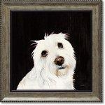 絵画 パスティ ダックロー「ルビー」 インテリア 絵 壁掛け 飾る 犬 ドッグ プレゼント ギフト リビング 玄関 トイレ 額入り かわいい 動物 壁飾り 癒やし  アート フレーム お祝い 額装込