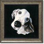 絵画 パスティ ダックロー「マックス」 インテリア 絵 壁掛け 飾る 犬 ドッグ プレゼント ギフト リビング 玄関 トイレ 額入り かわいい 動物 壁飾り 癒やし  アート フレーム お祝い 額装込